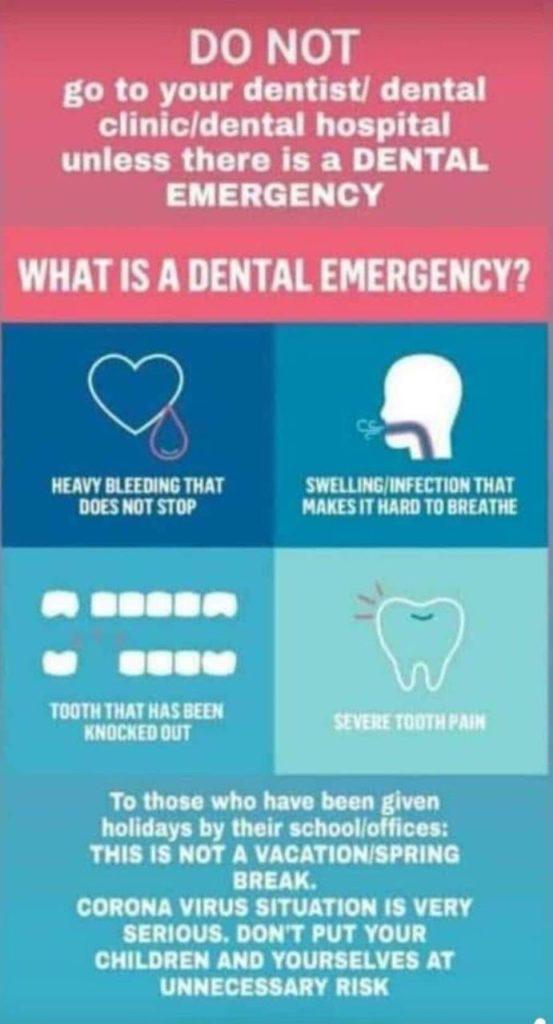 covid - dental emergency