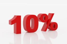 10% popusta na gotovinsko plaćanje